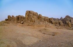 山在埃及的沙漠 免版税库存照片