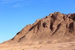 山在埃及 免版税库存照片
