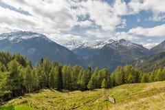 山在奥地利使大格洛克纳山高高山路环境美化 免版税库存图片