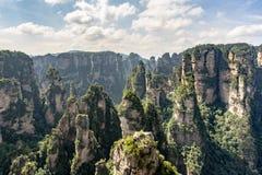 山在张家界森林公园 免版税库存照片