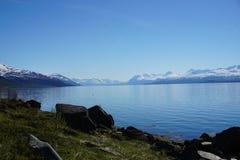 山在挪威 库存图片