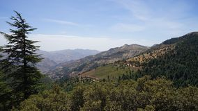 山在摩洛哥-舍夫沙万 库存照片