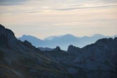 山在斯洛文尼亚 库存图片
