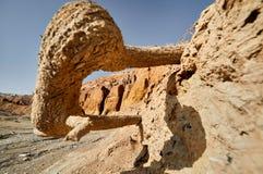 山在沙漠 免版税库存照片