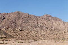 山在沙漠 库存图片