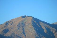 山在没有雪的冬天 库存图片