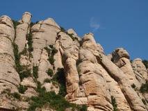 山在蒙特塞拉特 免版税库存照片