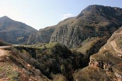 山在阿塞拜疆 免版税库存照片