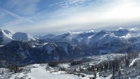 山在阿尔卑斯 库存照片