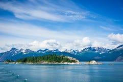 山在阿拉斯加,美国 库存照片