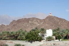 山在阿曼,中东 库存照片