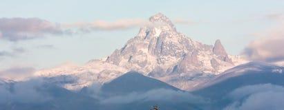 山在非洲,肯尼亚山 闹事 免版税库存照片