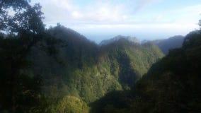 山在马德拉岛 库存照片