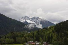 山在巴伐利亚 免版税库存照片