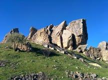 山在巴库 库存照片