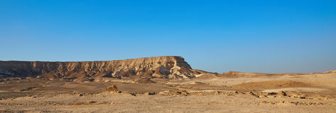 山在以色列的沙漠 库存照片