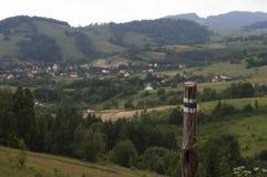山在beskidy的波兰 免版税图库摄影