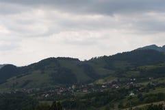 山在beskidy的波兰 库存照片