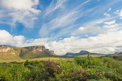 山在Chapada Diamantina,巴西 免版税图库摄影
