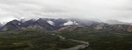 山在Denali在阿拉斯加 免版税图库摄影
