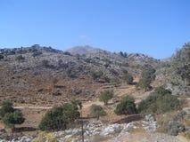 山在Kreta 图库摄影