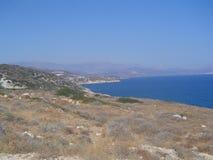 山在Kreta 库存图片