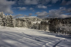 山在Krizlice的圣诞节 库存照片