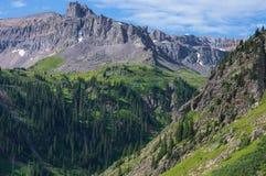 山在Ouray 库存图片