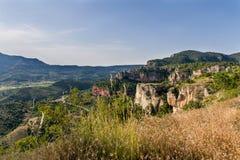 山在Siurana 库存照片