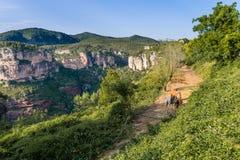 山在Siurana 免版税库存图片