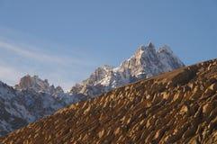 山在Sost,北巴基斯坦 库存图片