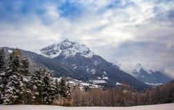 山在Stubai阿尔卑斯 图库摄影