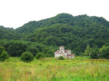 山坡和城堡 库存照片