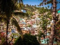 山坡在海地 免版税库存照片