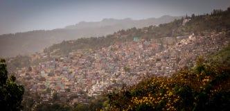 山坡在海地 免版税库存图片