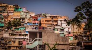 山坡在海地 库存照片