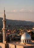 山坡清真寺视图 库存图片
