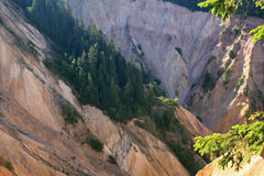 山坡的侵蚀 免版税图库摄影