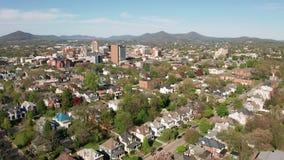 山坡街市Uban市中心的罗阿诺克弗吉尼亚空中透视家 股票视频