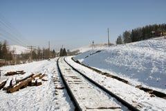 山坡铁路运输 免版税库存照片