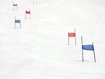 山坡障碍滑雪 免版税库存照片