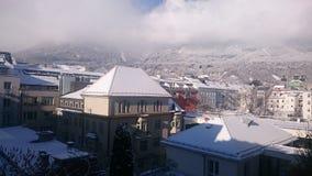 山城市在阿尔卑斯-因斯布鲁克 库存照片