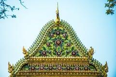 山墙大教堂 Wat Chalerm Phrakait 泰国 免版税图库摄影