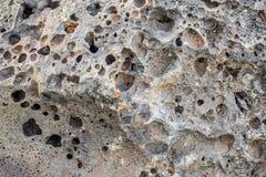 山多孔岩石 冻结的灰 design_的纹理 图库摄影