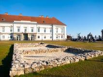 山多尔宫殿,匈牙利总统的官邸,布达城堡位于布达佩斯,匈牙利,欧洲 库存照片