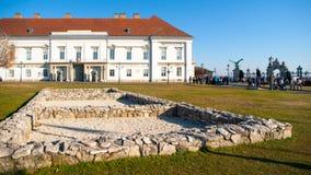 山多尔宫殿,匈牙利总统的官邸,布达城堡位于布达佩斯,匈牙利,欧洲 库存图片