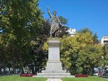 山多尔裴多菲纪念碑在布达佩斯,匈牙利 库存照片