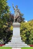 山多尔裴多菲的纪念碑在布达佩斯,匈牙利 图库摄影