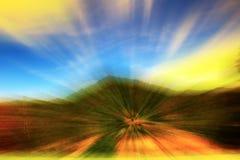山天空背景,美好的轻的小海湾颜色光背景 免版税图库摄影
