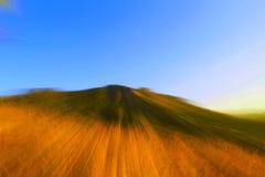 山天空背景,美好的轻的小海湾颜色光背景 免版税库存照片
